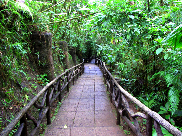 Hiking-trail-to-the-waterfalls-at-La-Paz-Waterfall-Gardens