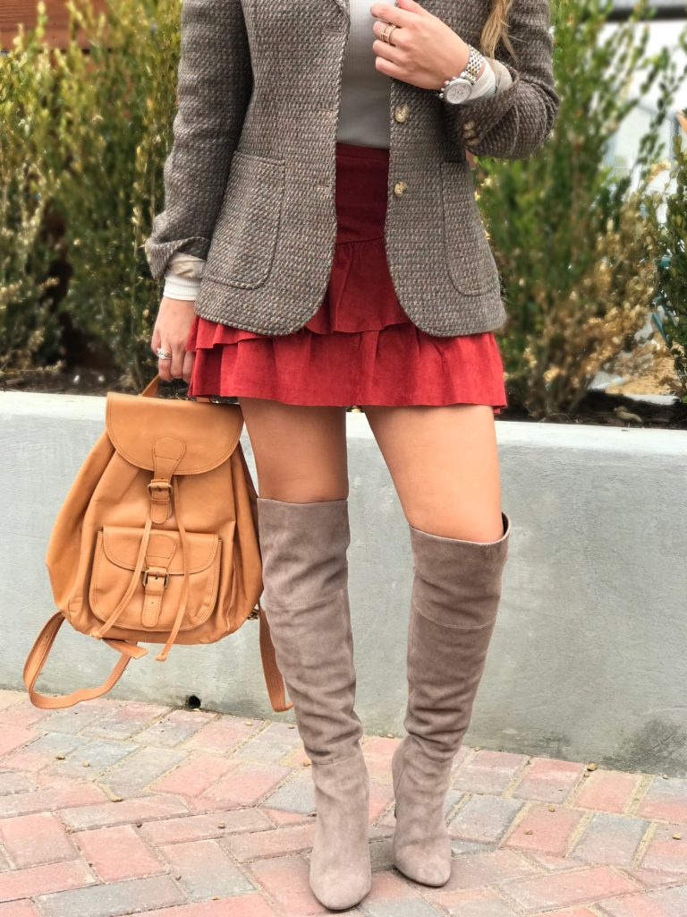 fall fashion over the knee boots