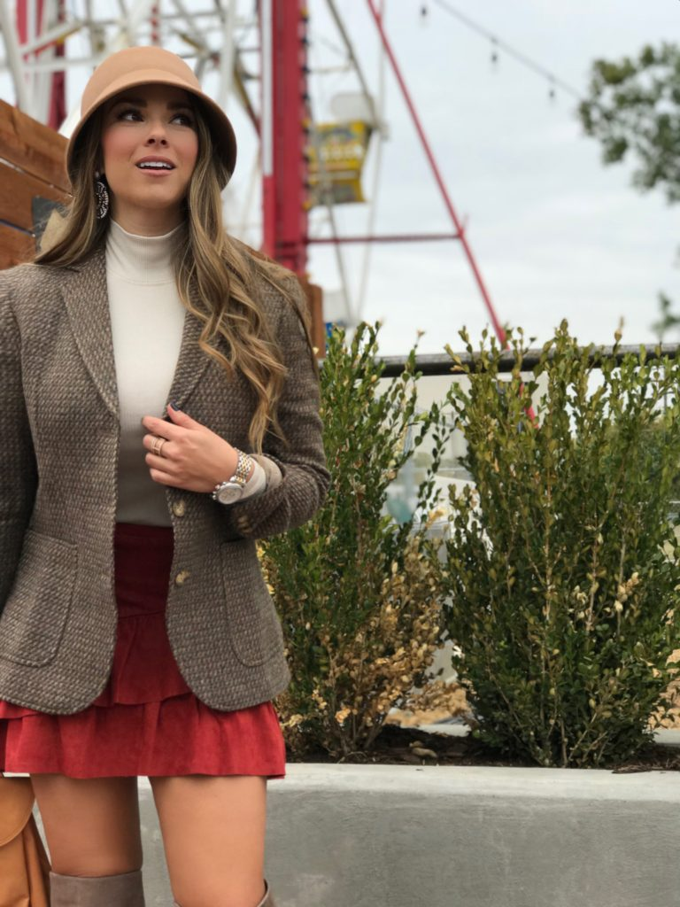 fall fashion tweed blazer